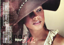 Alicia Keys Original 2002 Tour Book Concert Program soul pop Huge w/photos