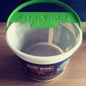 Star Wars Angry Birds Happy Meal Promotional Treat Bucket Plastic bucket