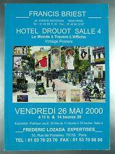 """CATALOGUE DE VENTE """"LE MONDE A TRAVERS L'AFFICHE"""" / DROUOT MAI 2000"""
