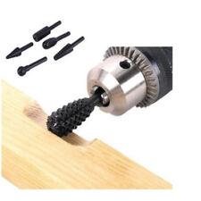 5pcs Black Steel Rotary Burr Set 1/4'' 6mm Shank Wood Rasp Drill Bits New