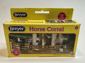 Breyer Fredom Series Horse Corral 1:12 Scale #61064 10 Piece Set