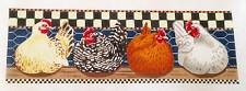 SP.ORDER ~ LIZ 4 Lovely Hens ~ Chickens in the Nest Box HP Needlepoint Canvas