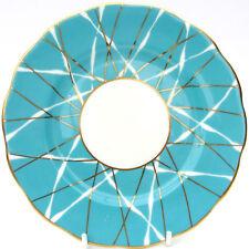 Vintage 1950s Mid Century Royal Albert Bone China Turquiose Blue Side Tea Plate