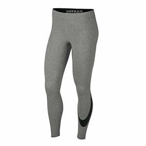 Nike Sportswear Leg-A-See Swoosh Leggings Size Large Grey Black AR3509-063
