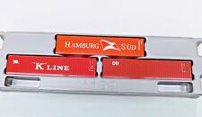 "Herpa 066730 - TT 1:120 - Juego de 3 x 40 ft. boxcontainer ""HAMBURGO sur /"