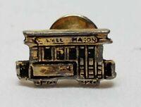 Vintage Powell Mason Trolley Cable Train Car Tie Tack Lapel Pin San Francisco