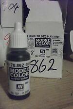 modello Hobby Pittura 17ml BOTTIGLIA val862 AV Vallejo Model Color - NERO GRIGIO