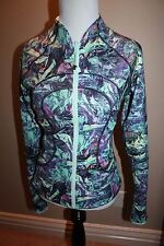 Lululemon find your bliss reversible jacket size 4 zip up NWT green/blue purple
