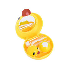 Yellow Duck Contact Lens Case Travel Mirror Tweezers Solution Storage Kit