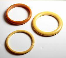 Beige and Butterscotch Bakelite | Bangles Set