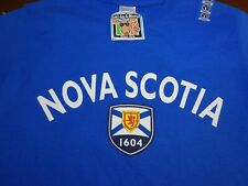 Nova Scotia Cool As A Moose T-Shirt Size Small Royal Blue Tee New F39