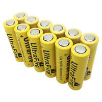 12X 18*65mm Batterie 9800mAh 3.7V Rechargeable Li-ion Battery Flat Top For Torch