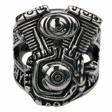 Sons of Anarchy Men of Mayhem V-Twin Stainless Steel Ring - Sz 10