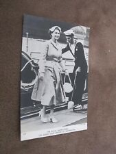 Royal Family Real photo postcard - Queen steps ashore @ Westminster