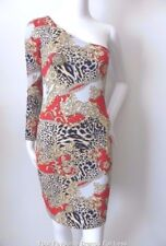 MOTEL ROCKS  One Shoulder Bodycon Dress Hand Made and Hand Printed Size Small