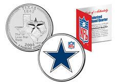 DALLAS COWBOYS Retro Logo Texas Quarter Colorized US Coin Football NFL LICENSED
