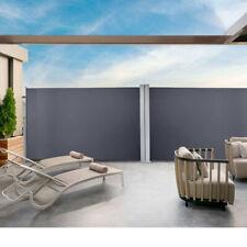 Doppel Seitenmarkise Sonnenschutz Markise Seitenwandmarkise 160x600cm Grau