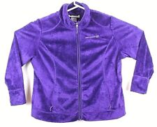 Free People Movement Womens Size 2XL Fleece Jacket Purple Full Zip GUC