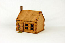 North American  LOG CABIN with STONE CHIMNEY 28mm Terrain M015