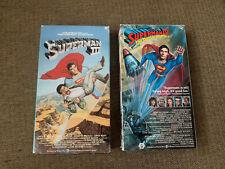 Vintage Superman 3 And 4 VHS 1987