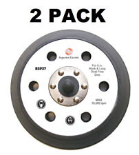 """(2) Backing Pad 6"""" Hook Loop for Porter Cable Polisher 7424 7424XP"""