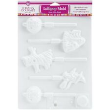 Halloween Shapes Lollipop Hard Candy or Chocolate Plastic Sheet Mold from LorAnn