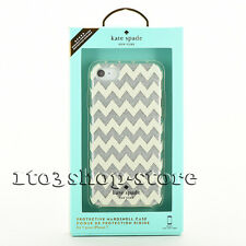 Kate Spade iPhone 7 iPhone 8 Protective Case Cover Chevron Glitter silver
