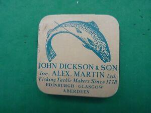 VINTAGE ALEX MARTIN/JOHN DICKSON FLY TIN .SALMON/TROUT.