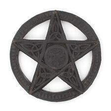 Hand Carved Small Wicca Pagan Celtic Pentacle Plaque Fair Trade Wood 15cm