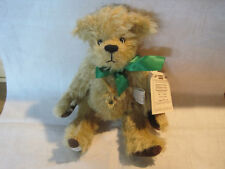 Deans jointed mohair limited edition May birthstone bear with tags