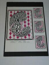 Quicksilver at the Fillmore Psychedelic Concert Poster & Handbills Proof Bg007