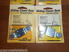 """2 Packs (4) Prime-Line Closet Door Roller (Front) 3/8"""" Offset, 3/4"""" Wheel N-6516"""