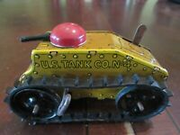 VINTAGE MARX TIN WINDUP CLIMBING FIGHTING TANK - MINT CONDITION WITH BOX