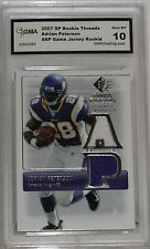 2007 SP ROOKIE THREADS ADRIAN PETERSON #RT-AP GAME JERSEY ROOKIE GEM MT 10 BY GM