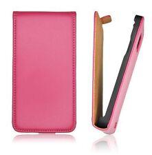 Etui Facon Cuir Rose Premium Flip Case Coque leather case pink for HTC DESIRE X