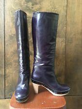 MARNI _ Long Leather Boots Deep Purple  sze 37