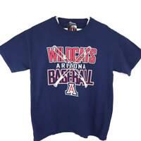Arizona Wildcats Baseball Unisex Adult Image One T-shirt Blue Red White L New