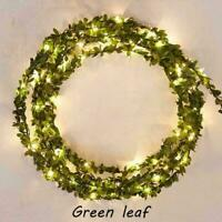 5M/2M Leaves Ivy Leaf Garland Fairy String Lights Home Wedding Party Decor I2H2