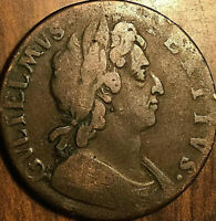 GREAT BRITAIN WILLIAM III HALF PENNY COIN