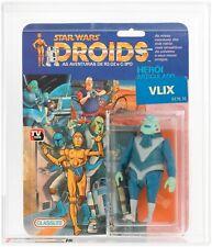 *RAREST STAR WARS figure VLIX AFA Graded DROIDS TV Series Vintage MOC Glasslite