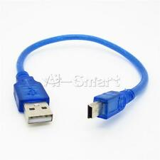 High Speed 30CM USB 2.0 A MALE TO MINI B 5 PIN MALE PLUG PC DATA CABLE LEADS AS