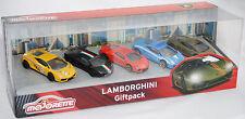 Majorette 212053162 LAMBORGHINI Giftpack (5 Modelle) mit Gallardo, Aventador und
