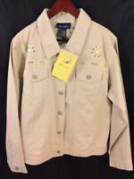 NWT'S QVC Denim & CO. Women's XL Jacket Embroidered Aztec Southwest Western