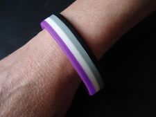 ASEXUAL Flag -  LGBT Pride Silicone Gay Lesbian Wristband Bracelet - New Design