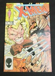 The Uncanny X-Men #213 (Jan 1987, Marvel) Wolverine vs. Sabretooth