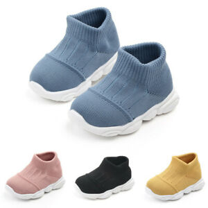 Toddler Infant Kids Baby Girls Boys Striped Mesh Sport Run Sneakers Shoes