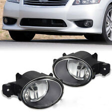 Driver Passenger Sides Fog Light Lamps w/ H11 Halogen Bulbs For Nissan, Infiniti