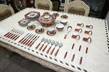 Royalty Porcelain Madonna Antique 75pc Large dinner and Sushi Set, Service for 6