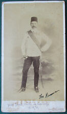Rare Earl Kitchener Signed Cabinet Photo for his Man Servant Kaneema c.1888