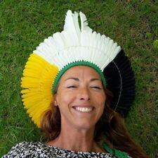 Cocar Corona di piume della tribù indigena brasiliana Kariri-Xocó | headdress